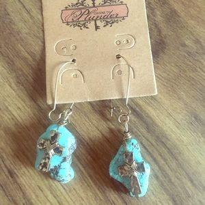 Plunder Turquoise earrings